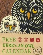 Free Owl Lover 2014 Calendar