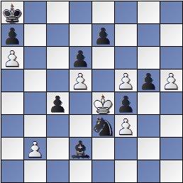 Estudio artístico de ajedrez de Francisco Valls Uyá, SEPA 1947