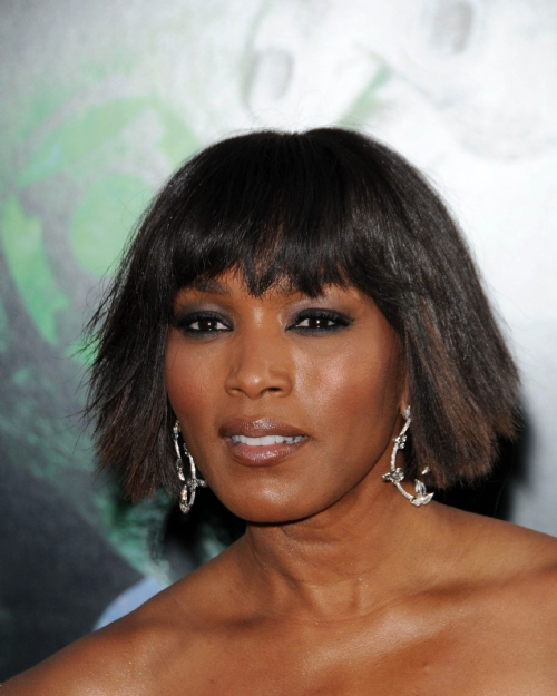 Celebrity Hairstyle Bobs Angela Bassett Women Haircut