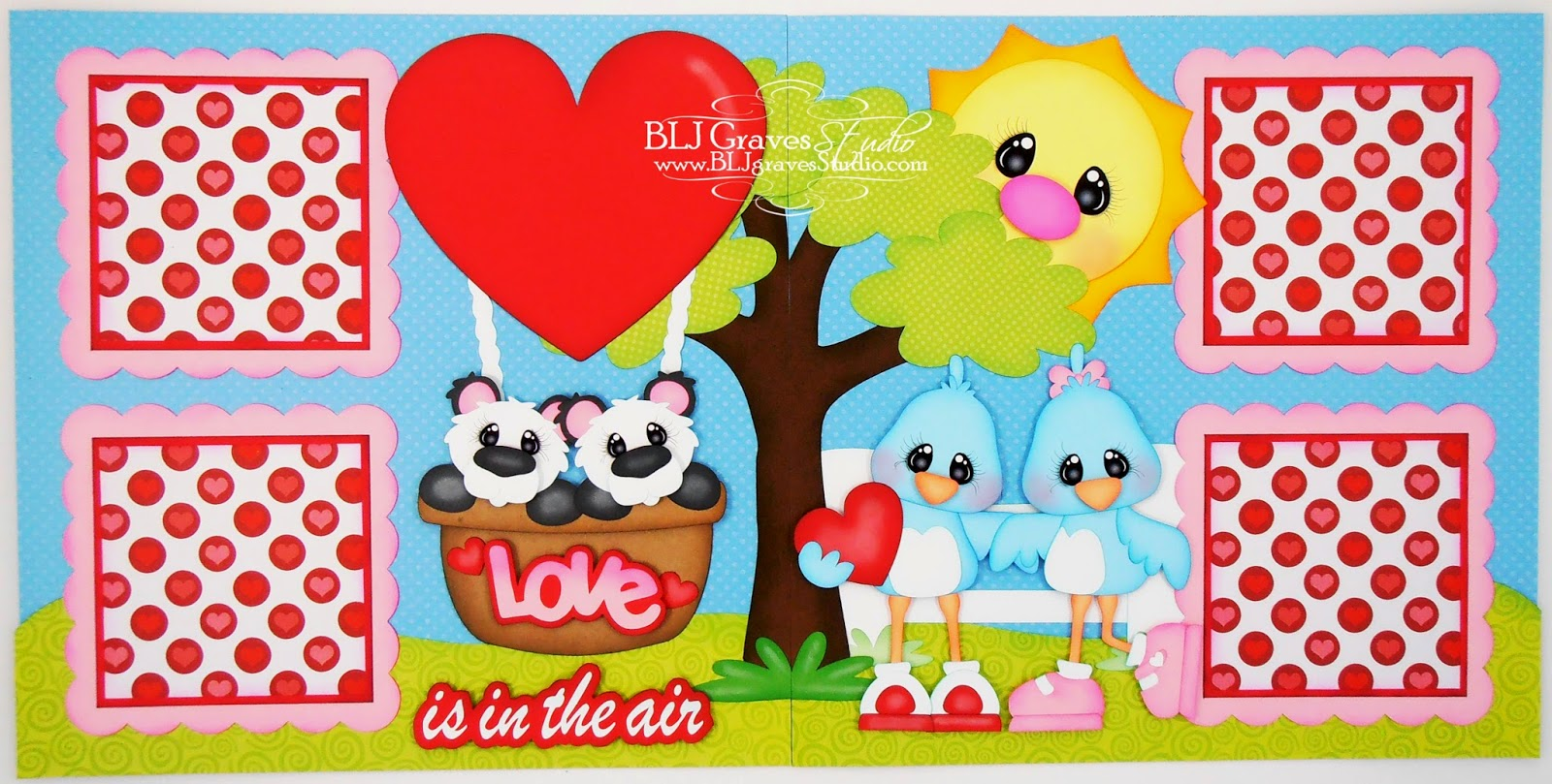 How to design scrapbook layouts - Today I Have A Valentine Layout To Share With You I Used The Following Files For This Layout Love Hot Air Balloon