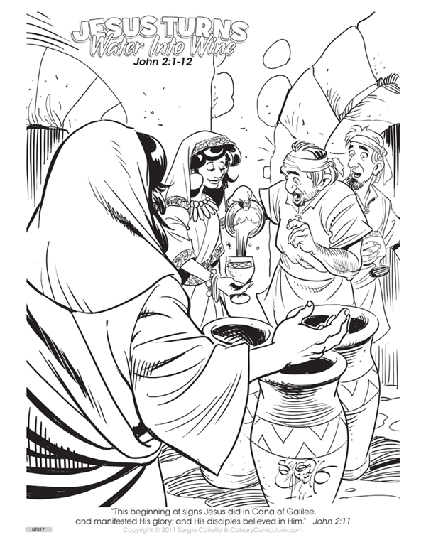 May 23 2012 Check Out Another One Of The NEW Coloring Pictures From Sergio Cariello Entitled Jesus Turns Water Into Wine