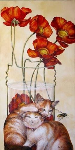 pintura de gato