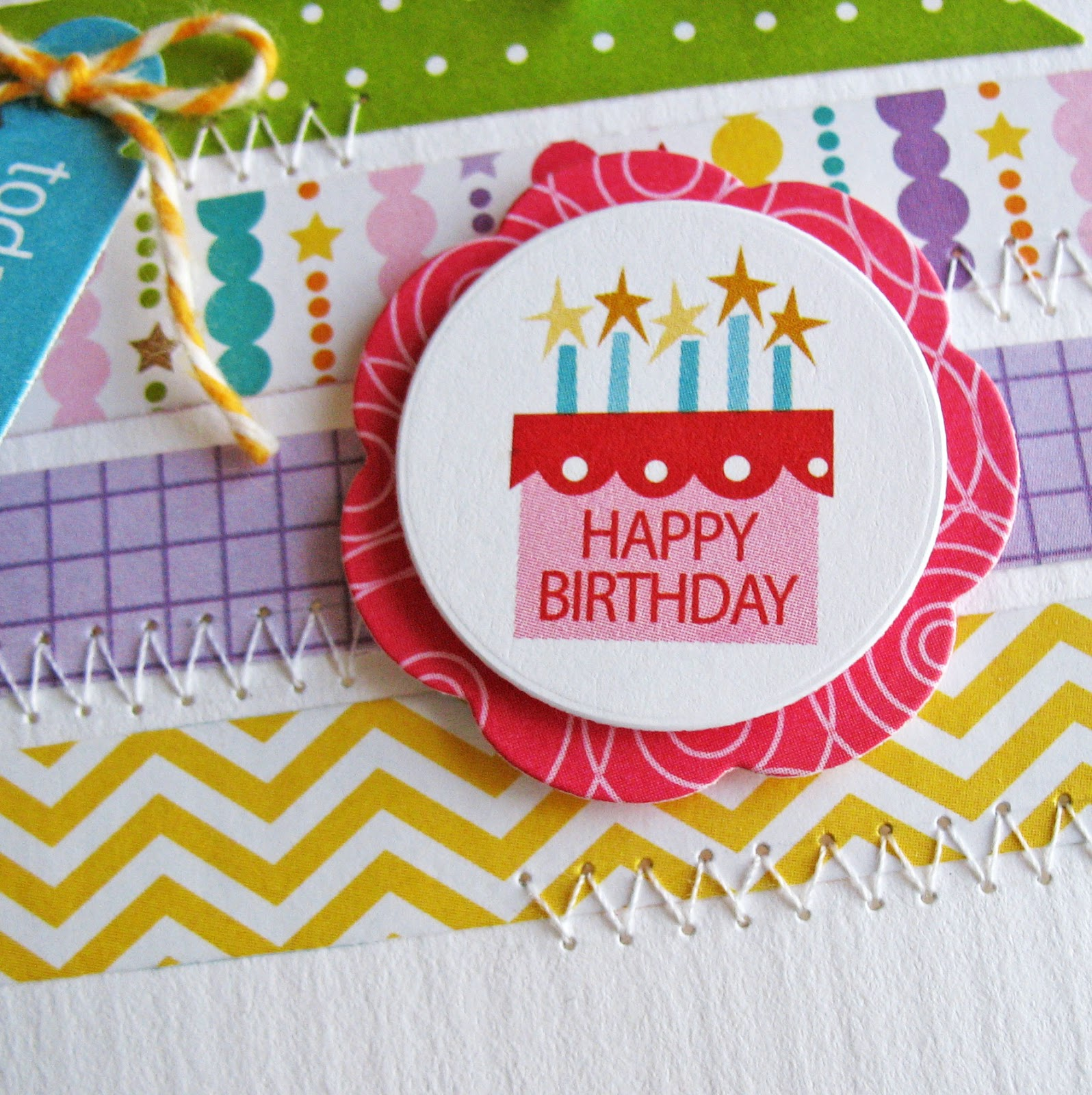 Card-Blanc By Kathy Martin: Happy Birthday