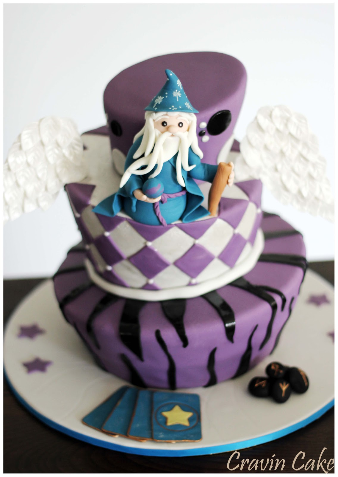 Cravin Cake Magical Wizard Mad Hatter Cake