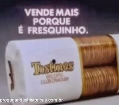 """""""Tostines vende mais porque é fresquinho ou é fresquinho porque vende mais?"""" - campanha de 1984"""