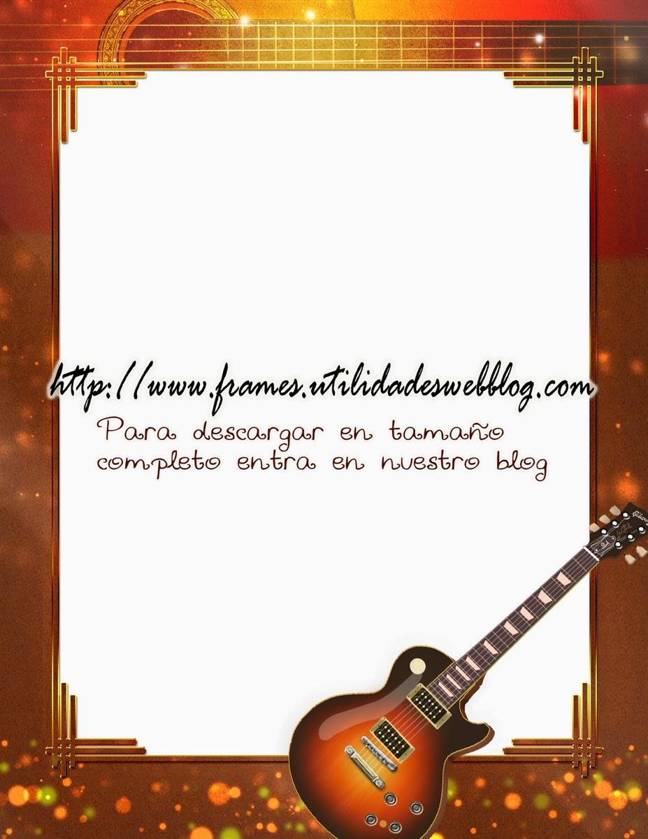 marco para decorar fotos de guitarristas