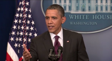 President Obama at Press Conference