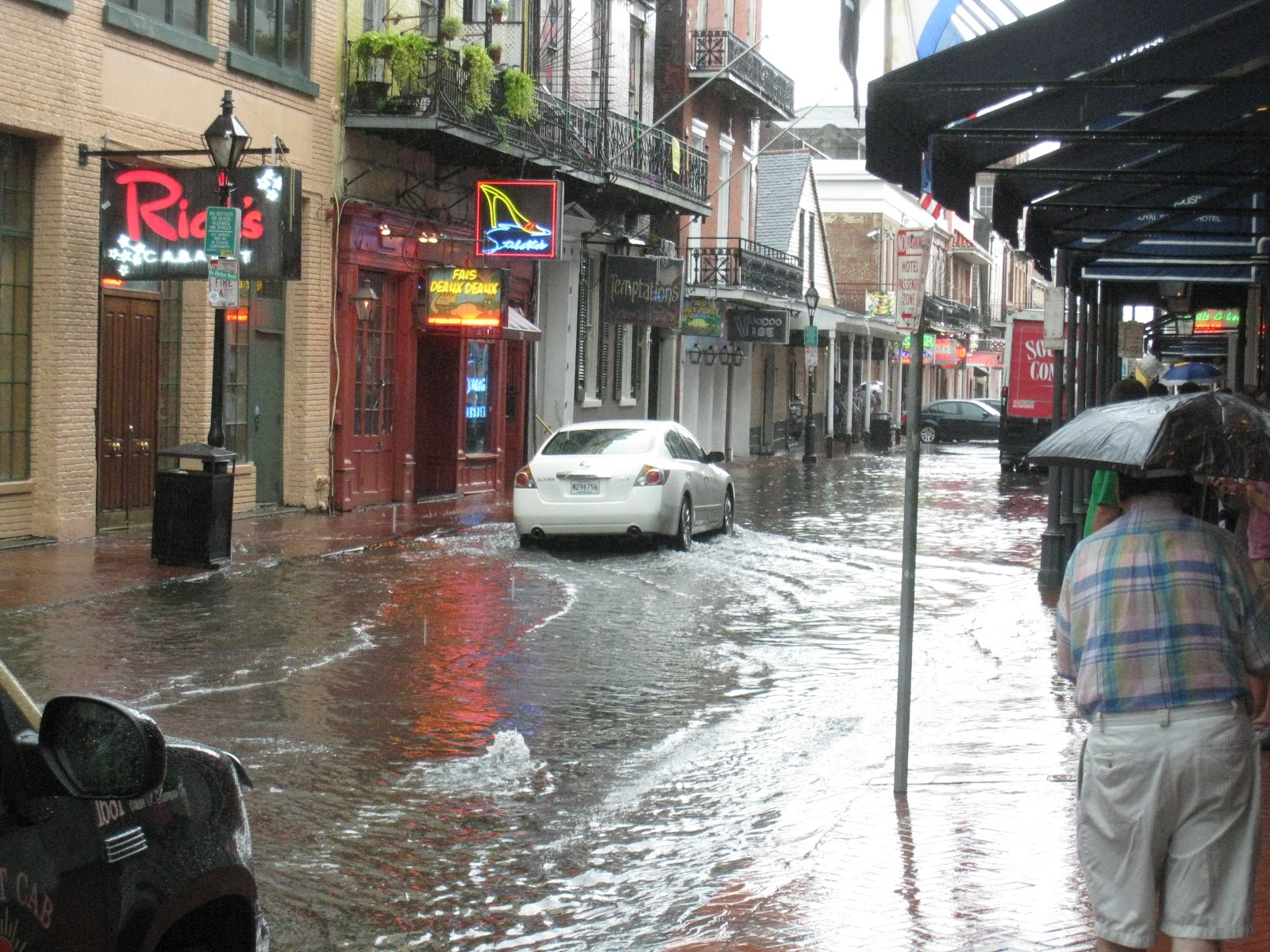 yes bourbon st did flood that morning