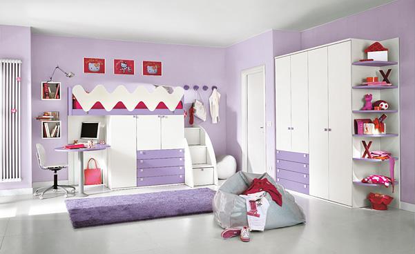 : الوان غرف نوم بناتيه : غرف
