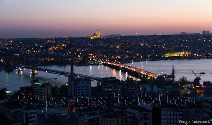 vista da torre de Galata