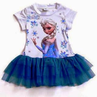 Tutu dress elsa frozen lucu untuk anak