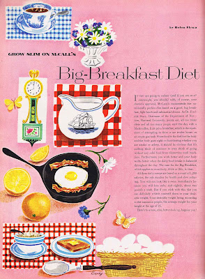 Big Breakfast Diet fro 1953 McCall's Magazine