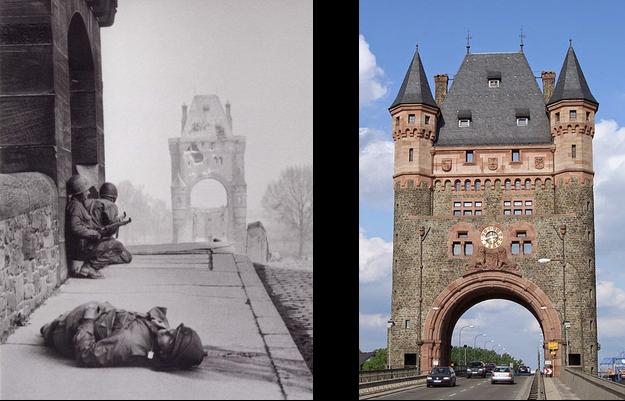 American soldiers Nibelungenbrücke