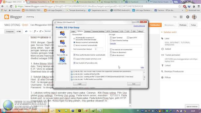cara menggunakan ssh di pc/laptop