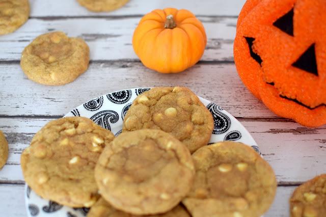 Halloween Spiced White Choc Chip Pumpkin Cookies Recipe