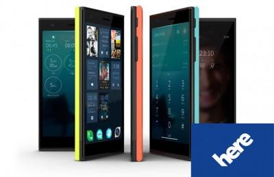 Smartphones Jolla Akan Terintegrasi Dengan Nokia HERE Maps dan Yandex.Store