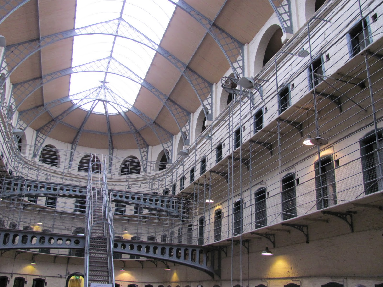 The grand cell block at Kilmainham Gaol