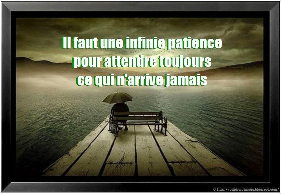 Citation sur patience en photo