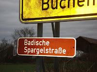 Panneau signalant la Spargelstrasse, près de Karlsruhe