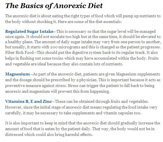 Pro Ana Foods To Avoid