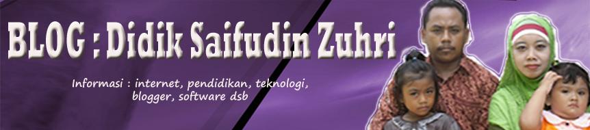 BLOG : Didik Saifudin Zuhri