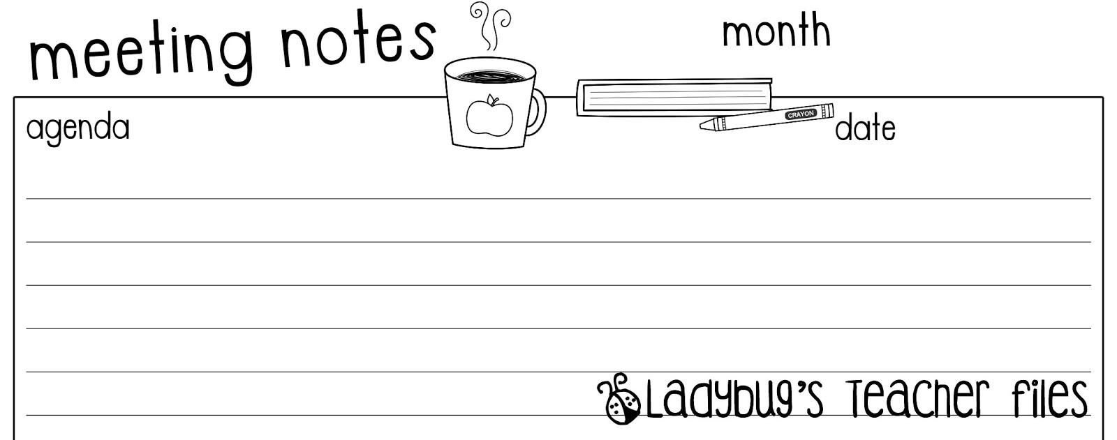 meeting notes  file to share   u2013 ladybug u0026 39 s teacher files