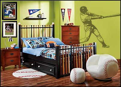 Decorating Theme Bedrooms Maries Manor Baseball Bedroom - Baseball bedroom decorating ideas