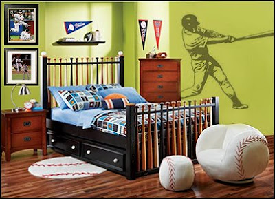 Baseball Bedroom Decorating Ideas Bedroom