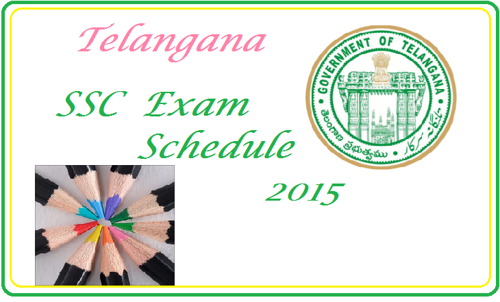 SSC(10th Class) Annual Exam Time Table 2015 in Telangana