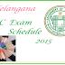 Telangana SSC(10th) Exam Time Table 2015