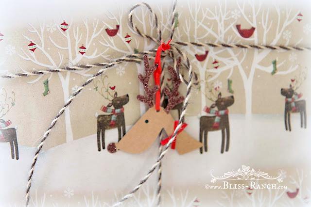 Rudolph Wrap and Tags, Hobby Lobby, Bliss-Ranch.com