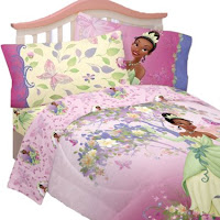 5pc Disney Princess And The Frog Tiana Butterfly Comforter And Sheet Set