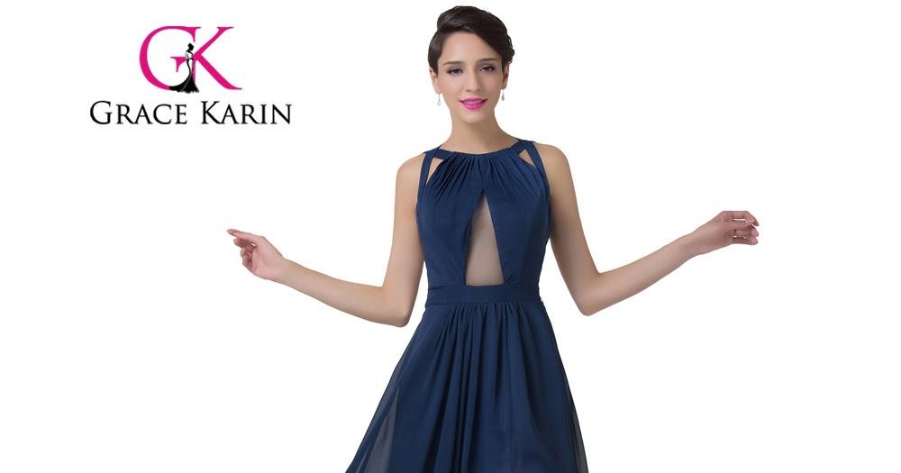 SuperDeals: Grace Karin Navy Blue Evening Dress Women Fashion Backless ...