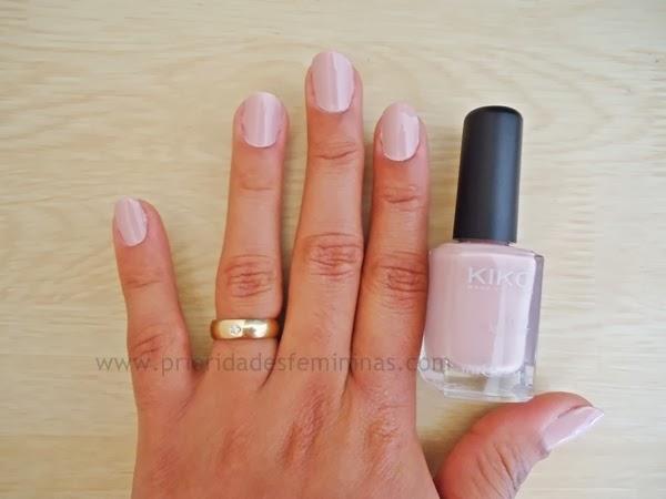 esmalte rosa nude mate
