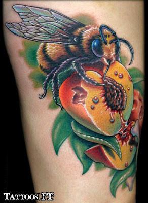 fotos da tatuagem Abelha no Pessego