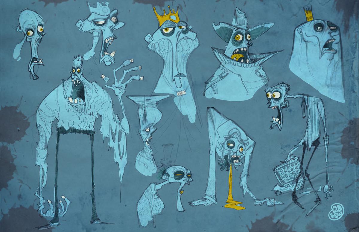 Character Design Zombie : D bean art concept visual development doodles