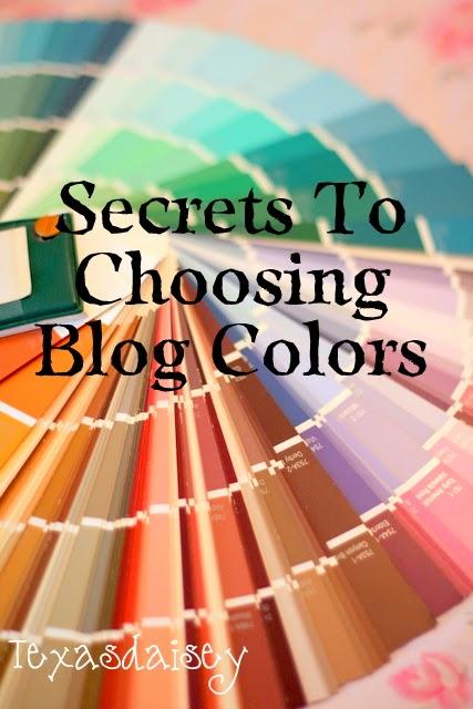 Secrets to choosing Blog Colors, room colors, design colors
