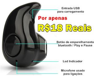 Fone Bluetooth por apenas 18 reais