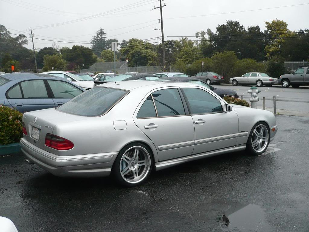 mercedes benz w210 e55 amg on 19 dpe wheels benztuning