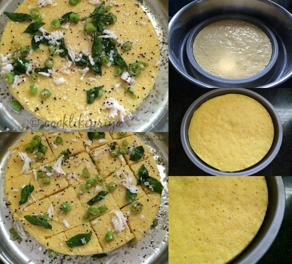 how to cook dhokla in pressure cooker