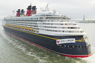 Disney Cruise Line's Disney Magic - Maiden Arrival in NYC.
