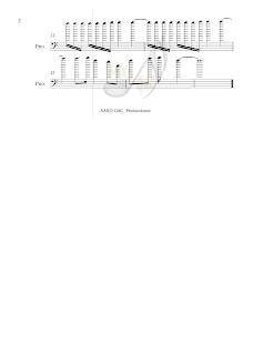 2 Balada para Adelina Partitura en clave de Fa en 4º para trombón, chelo, fagot, tuba, bombardino...