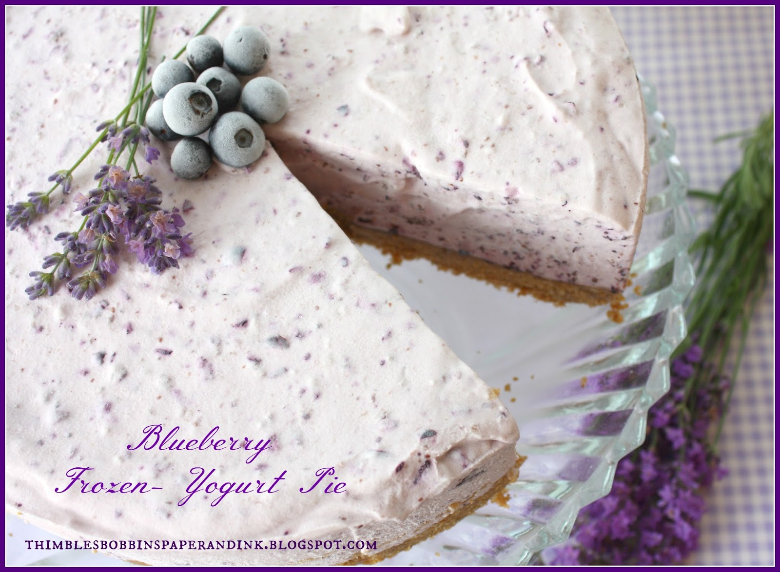 ... , Paper and Ink: Cake Dome Sunday #28: Blueberry Frozen-Yogurt Pie