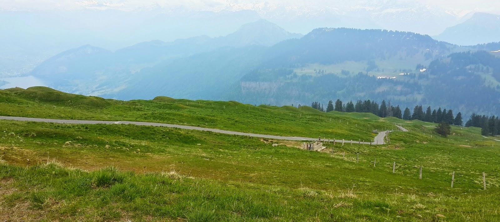 breathtaking views of Swiss Alps from Mt.Rigi