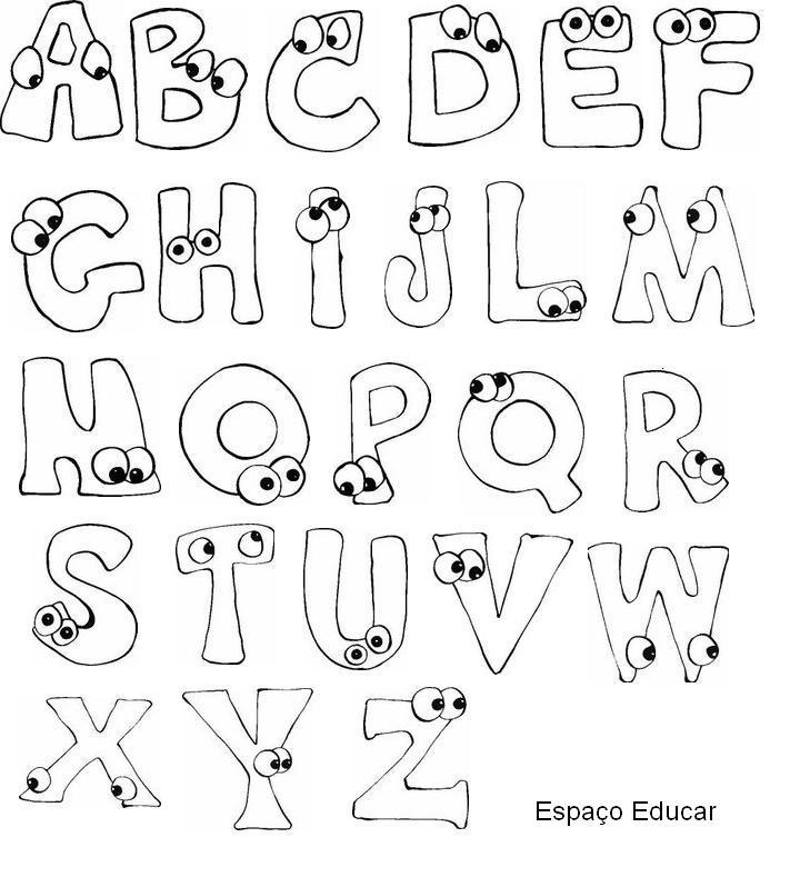 Tudo kids moldes de letras - Letras para letreros grandes ...