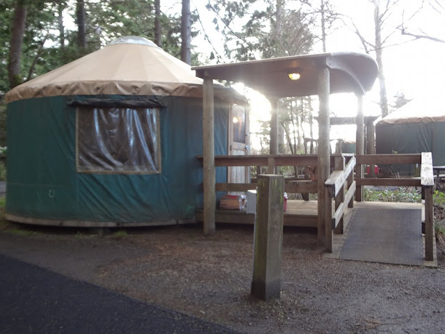yurt at cape lookout campground
