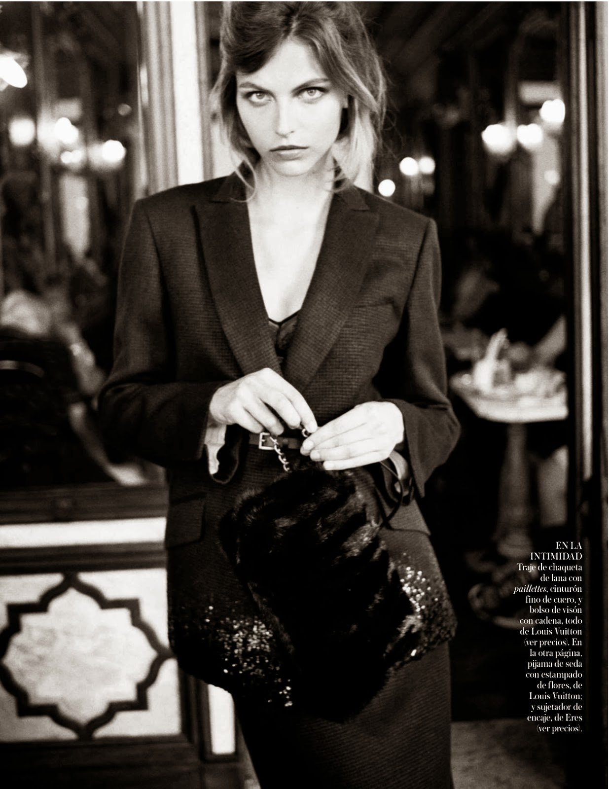 Karlina Caune wearing Louis Vuitton Fall/Winter 2013 photographed by Quentin de Briey for Vogue Spain October 2013 via fashioned by love british fashion blog