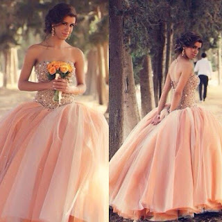 modern wedding dress; modern wedding dresses; modern wedding gown; simple wedding dress; simple wedding gown; peach wedding dress; peach wedding gown