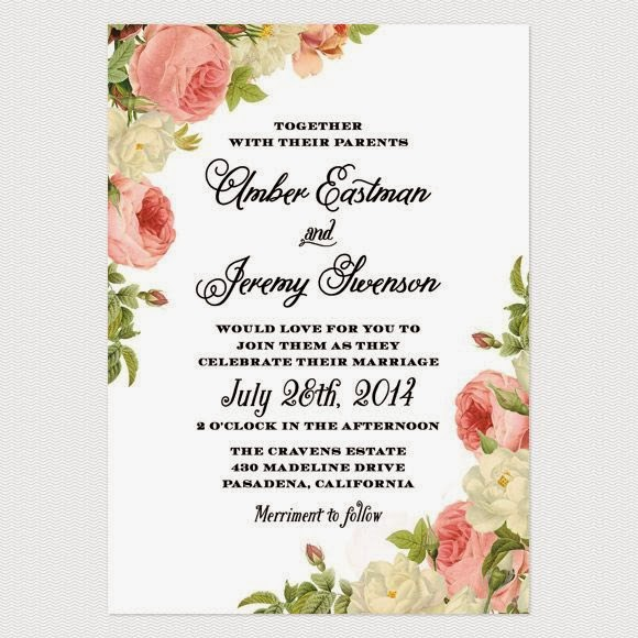 Nos encanta: 10 invitaciones vintage ~ The Rose Carpet