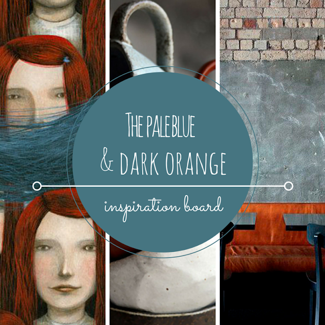 PALE BLUE & DARK ORANGE • WEEKLY COLOR INSPIRATION • THE ROUND BUTTON BLOG